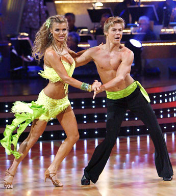 Sexy dancer in dancing with the stars