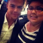 Derek with a fan at Safe Haven Premiere