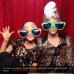 Derek and Kellie goofin around in the DWTS Prom Photo booth