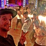 Mark Ballas Derek Hough Tony Dovolani in the ballroom