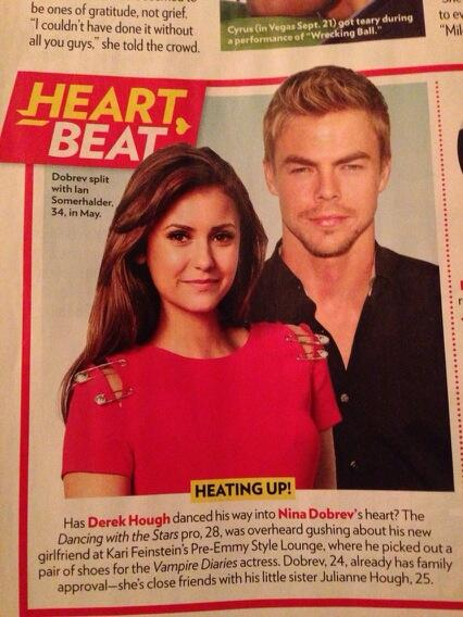 Derek Hough and Nina Dobrev in People Magazine | Pure ...
