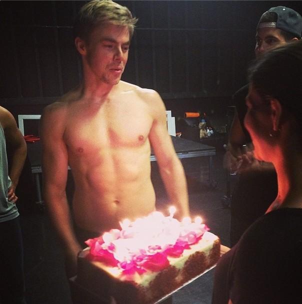 Derek And His Birthday Cake Pure Derek Hough