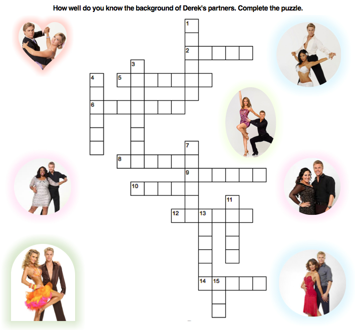 Derek's Partners Crossword Puzzle