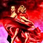Derek Hough Julianne Hough Fan Art by Deb Stroz